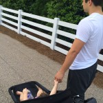 walking with daddy on father's day